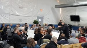 Me2 Orchestra performing at the Boston Engagement Center