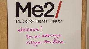 Bulletin board with the Stigma-Free Zone message