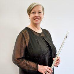 Eileen Yarrison holding flute